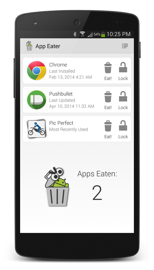 App Eater main screen screenshot